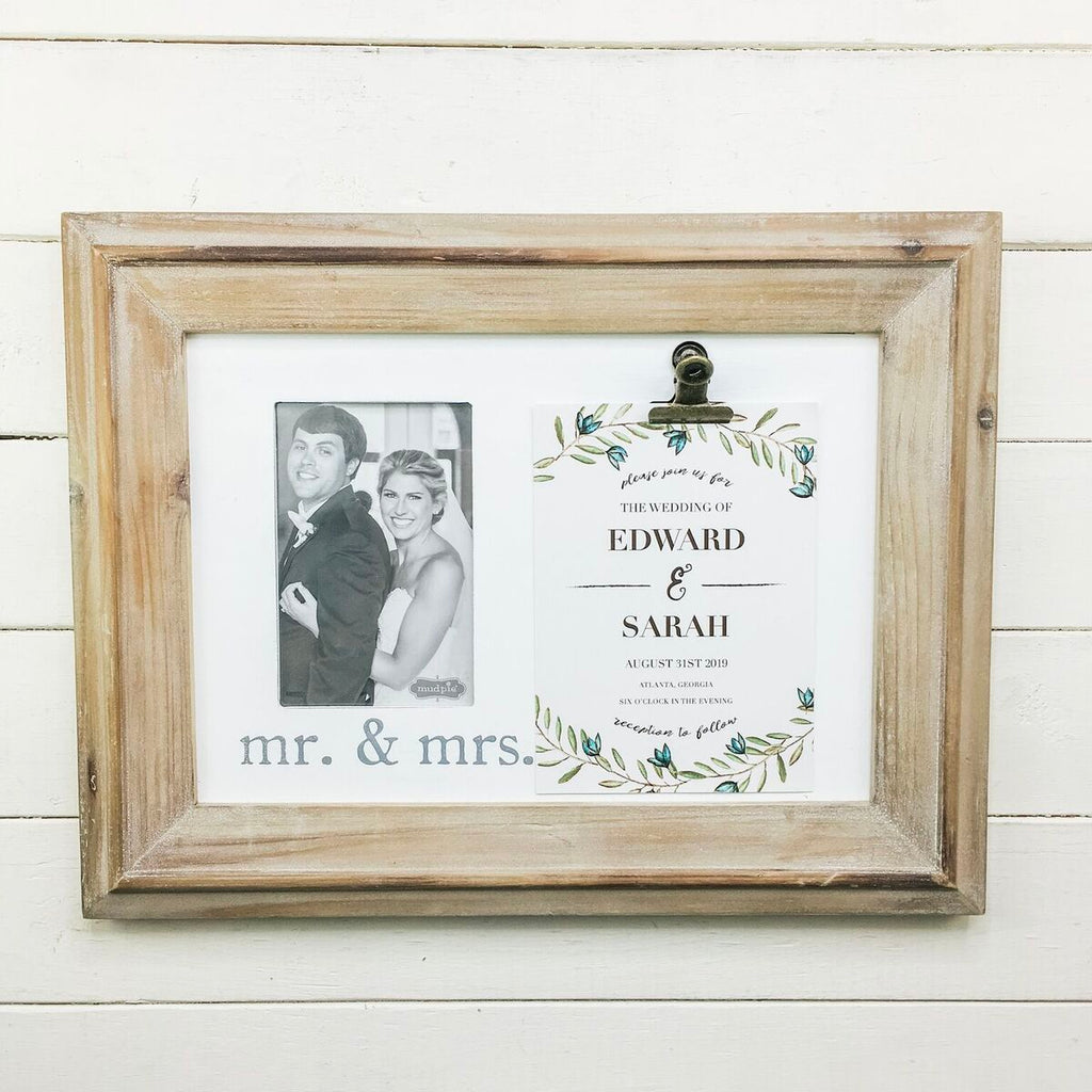 Mr & Mrs Invitation Frame