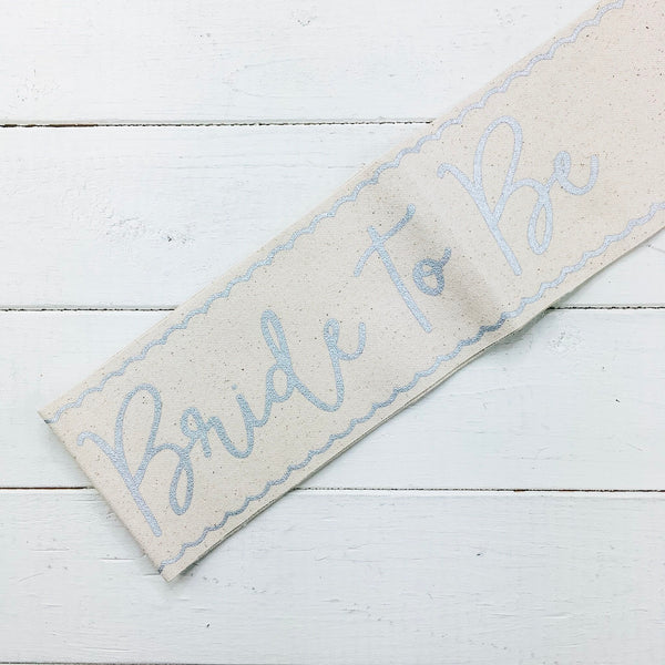 Bride To Be Sash