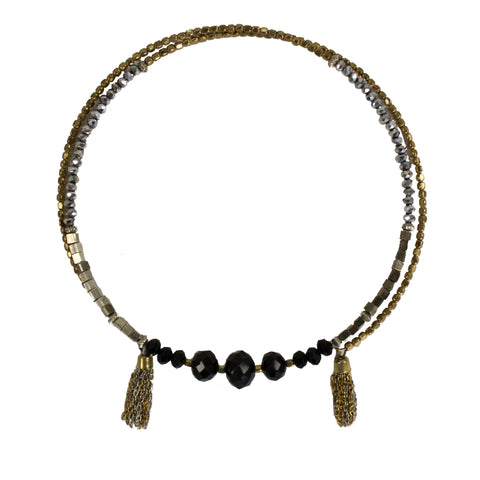 Deco Tassel Choker - adjustable