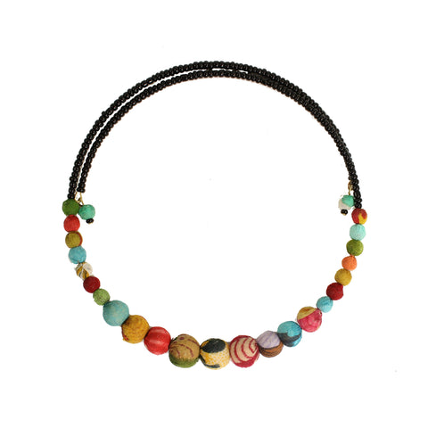 Kantha Bead Choker Necklace
