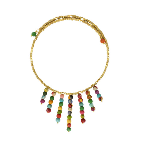 Fringed Kantha Choker Necklace