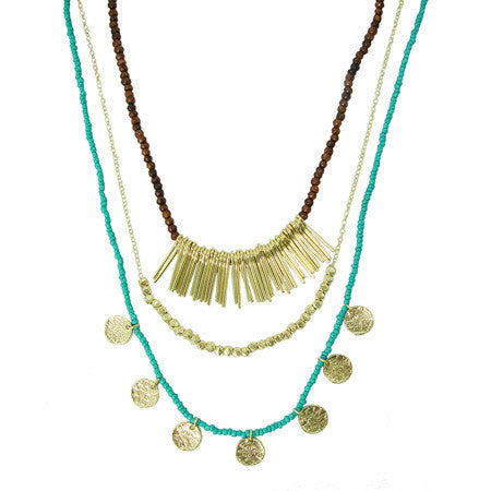 Sea & Earth Layered Necklace