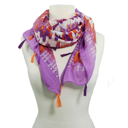 Feather Spiral Square Scarf