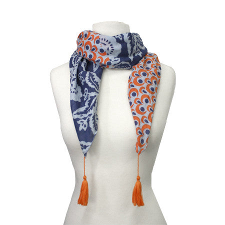 Ikat Patchwork Scarf