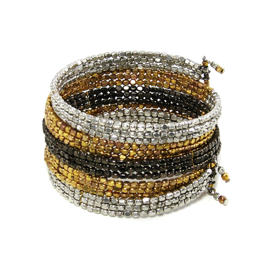 Ombre Metallic Serpent Wrap Bracelet