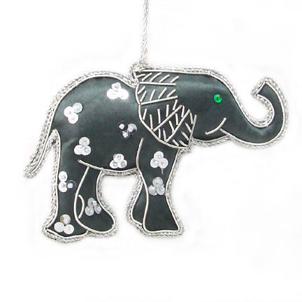 Gray Elephant Ornament