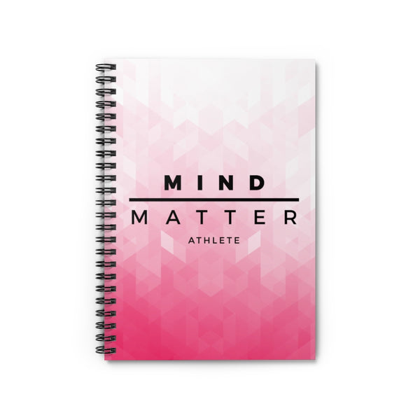 MM Athlete Pink Pixel- Spiral Notebook - Ruled Line