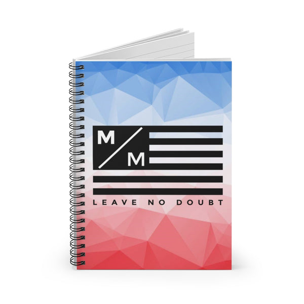 MM Flag RWB- Spiral Notebook - Ruled Line