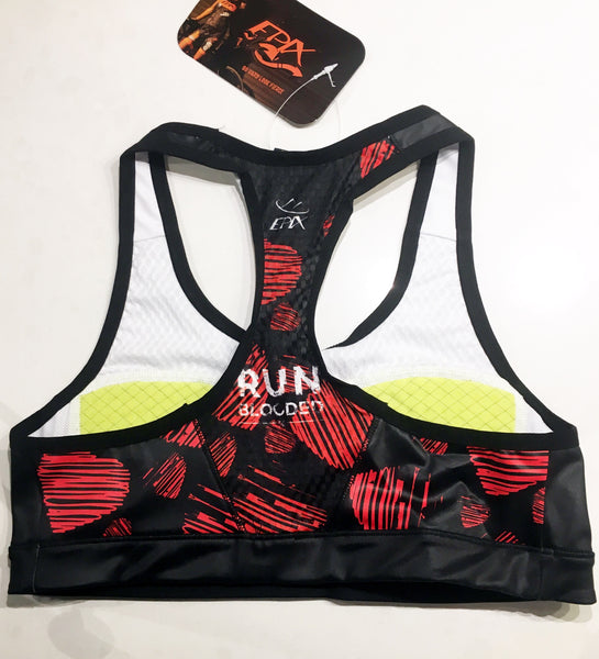 I'M ALL HEART - RUN BLOODED GoFierce Running Bra by Epix (MM) (Clearance item; non-refundable)
