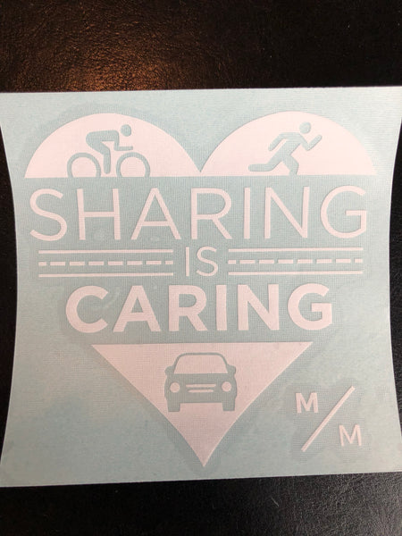 SHARING IS CARING Car and Bike Sticker - Vinyl