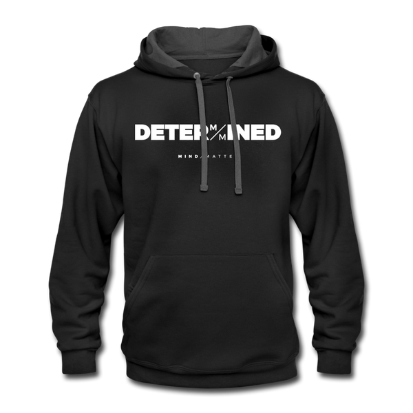 Determined MM- Unisex Contrast Hoodie - black/asphalt