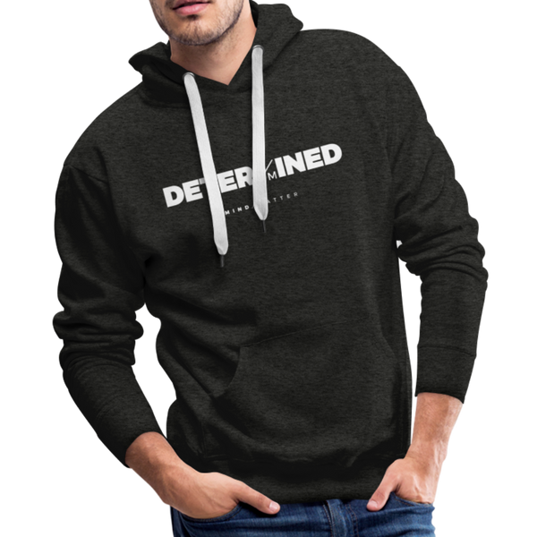 Determined- Men's Premium Hoodie - charcoal gray