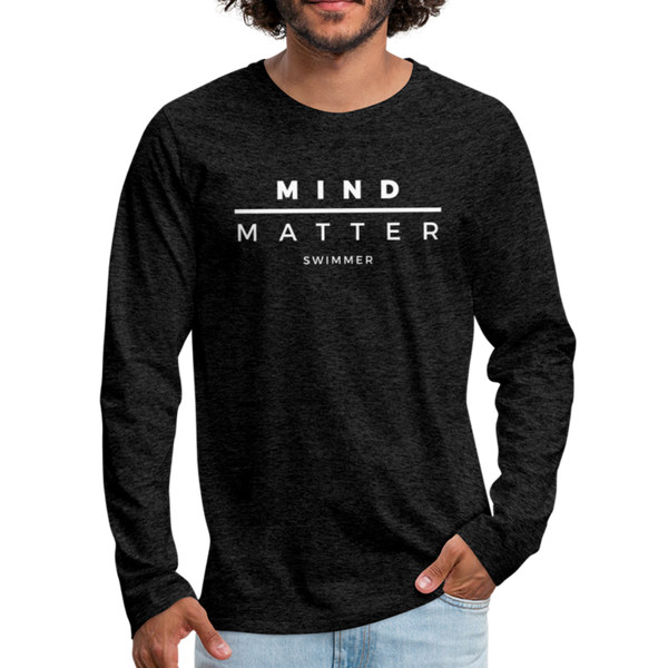 MM Swimmer- Men's Premium Long Sleeve T-Shirt - charcoal gray