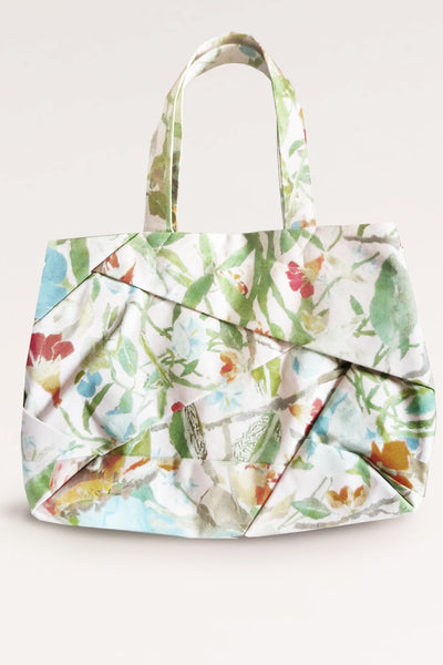 Complex Pleats Hemp Bag / Print - YOJIRO KAKE OFFICIAL