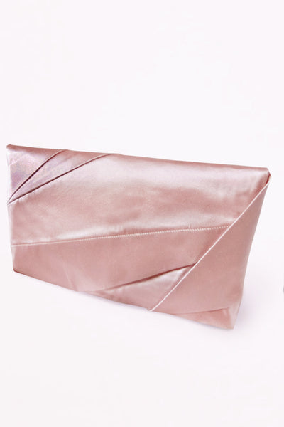 Complex Pleats Silk Clutch Bag / Misty pink - YOJIRO KAKE OFFICIAL