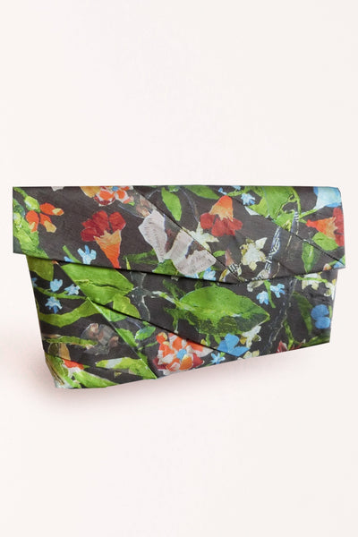 Complex Pleats Linen Clutch Bag / Print. - YOJIRO KAKE OFFICIAL