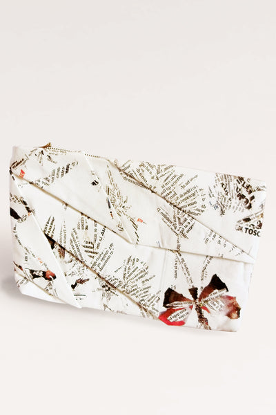 Complex Pleats Hemp Clutch Bag / Print - YOJIRO KAKE OFFICIAL