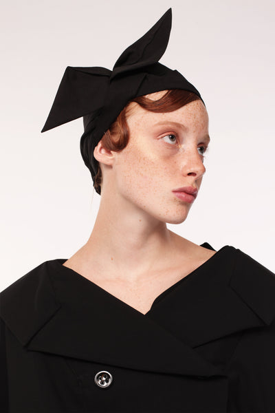 Origami Turban / Black - YOJIRO KAKE OFFICIAL