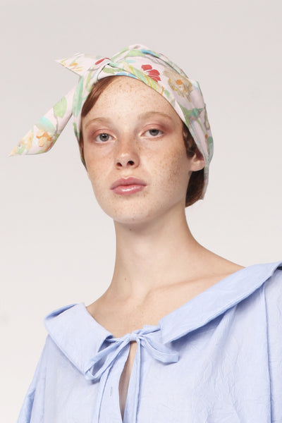 Origami Turban with Ribbon / Print - YOJIRO KAKE OFFICIAL
