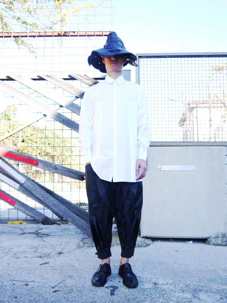 Origami Unisex Bellini Cotton Shirt / White - YOJIRO KAKE OFFICIAL