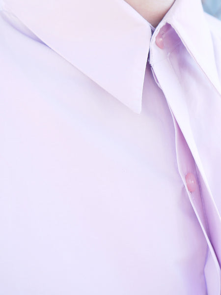 Origami Unisex Bellini Cotton Shirt / Pink - YOJIRO KAKE OFFICIAL