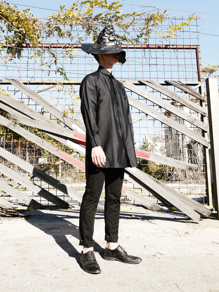 Origami Unisex Bellini Cotton Shirt / Black - YOJIRO KAKE OFFICIAL