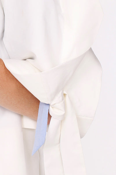 Squarish Sleeves Coat / White - YOJIRO KAKE OFFICIAL
