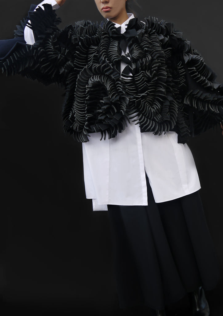 Whole Petals Jacket / Black - YOJIRO KAKE OFFICIAL