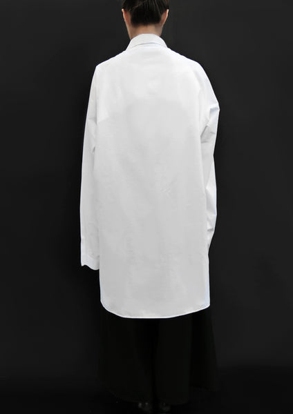Bellini Flower Cotton Shirt / White - YOJIRO KAKE OFFICIAL