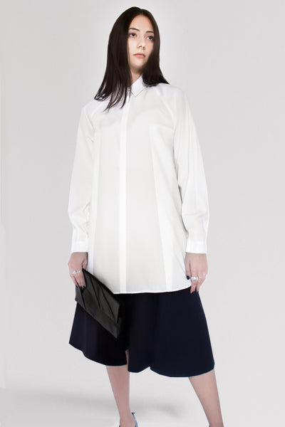b13d576e Origami Unisex Bellini Cotton Shirt / White - YOJIRO KAKE OFFICIAL