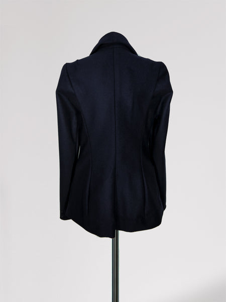 Origami Ekaterina Wool Jacket / Navy - YOJIRO KAKE OFFICIAL