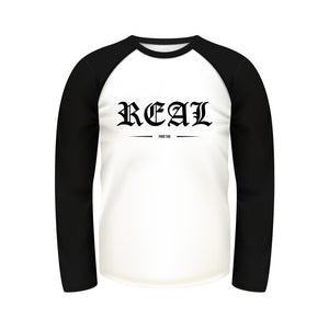 Real Baseball Raglan