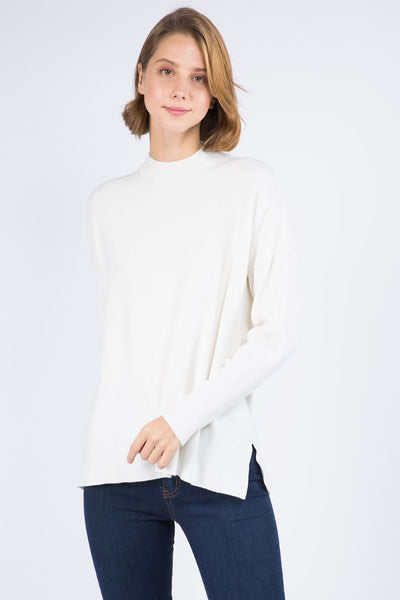 Dreamers Mockneck Top - Off White