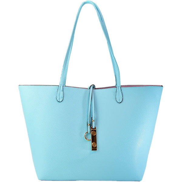 Reversible Tote - Baby Blue - 3 Sisters Boutique