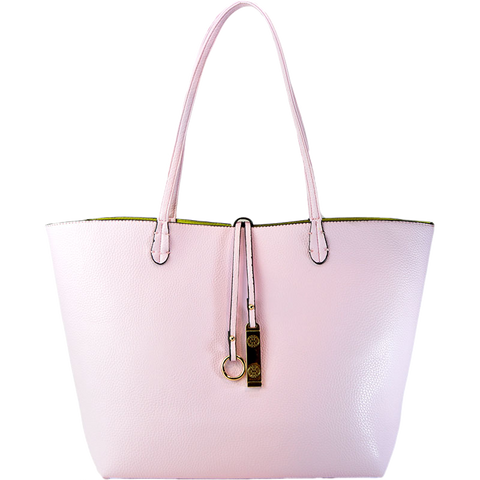 Reversible Tote - Baby Pink - 3 Sisters Boutique