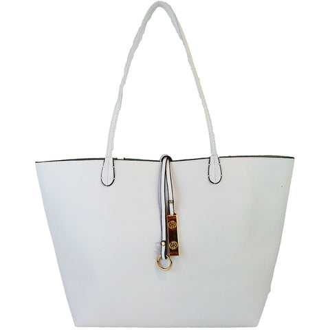 Reversible Tote - White - 3 Sisters Boutique