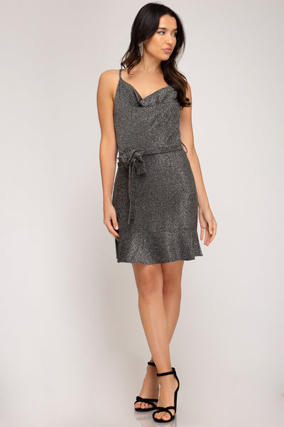 Titanium Dress - Silver - 3 Sisters Boutique
