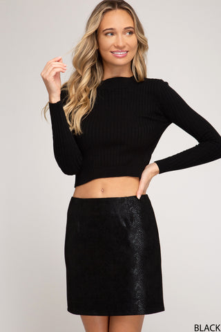 Viper Snake Skin Mini Skirt - 3 Sisters Boutique