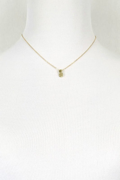 Aloha Pineapple Necklace - 3 Sisters Boutique