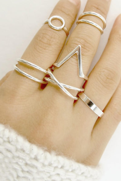 Silver Multi Ring Set - 3 Sisters Boutique