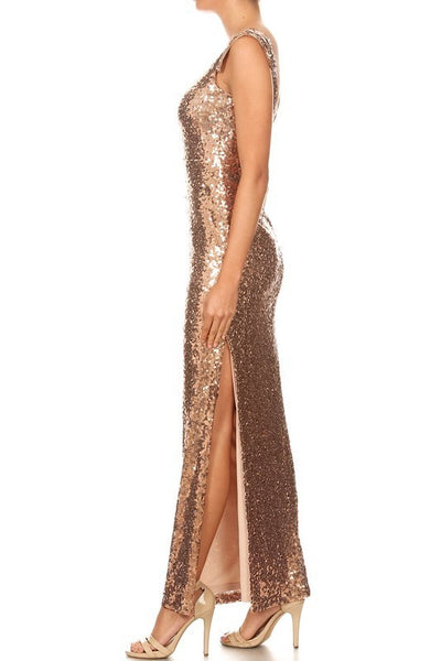 Golden Girl Gown - 3 Sisters Boutique