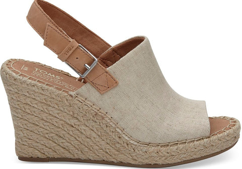 Toms Monica Wedge - Natural Oxford