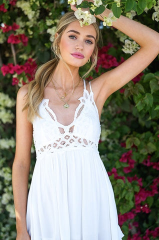 Wild and Free Bralette Dress - White