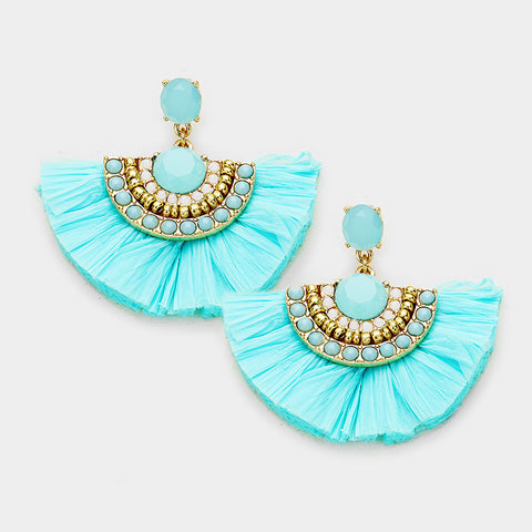 Boho Earrings - Mint - 3 Sisters Boutique
