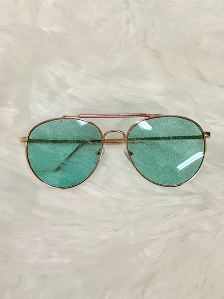 Glitz and Glam Sunglasses - Mint