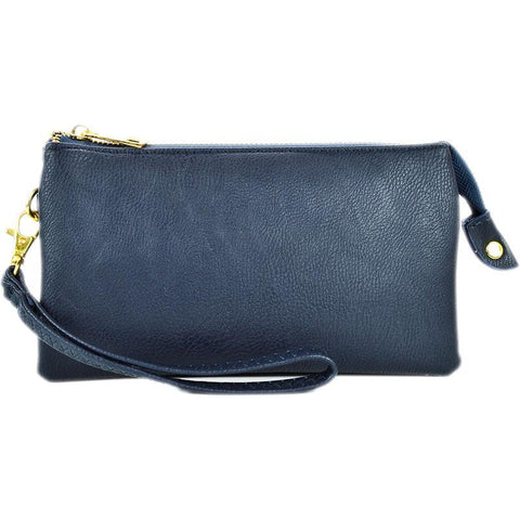 Leatherette Crossbody in Navy - 3 Sisters Boutique