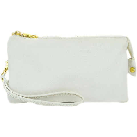 Leatherette Crossbody in White - 3 Sisters Boutique
