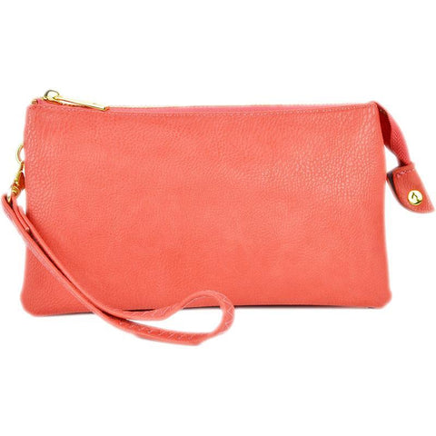 Leatherette Crossbody in Coral - 3 Sisters Boutique