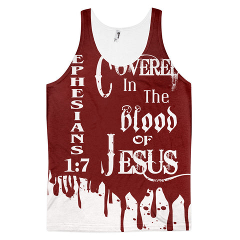 Covered In The Blood tank top