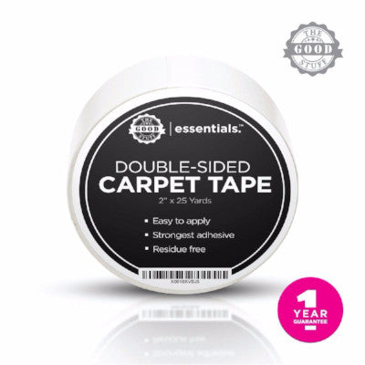Double Sided Carpet & Mat Tape (2 Inches x 75 Feet)